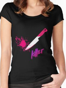 Hipster knife - Killer Women's Fitted Scoop T-Shirt