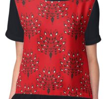 Elegant silhouette of Peacock Chiffon Top