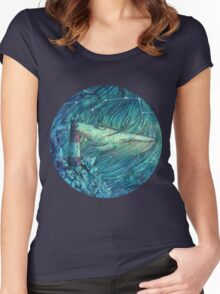 Moonlit Sea Women's Fitted Scoop T-Shirt