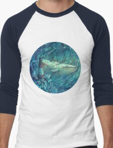 Moonlit Sea Men's Baseball ¾ T-Shirt