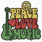 Reggae Peace Love Music by Lisann