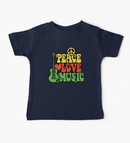 Reggae Peace Love Music Baby Tee