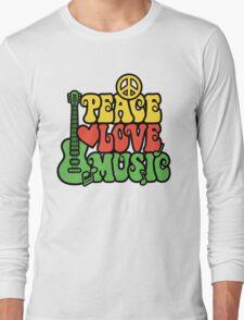 Reggae Peace Love Music Long Sleeve T-Shirt