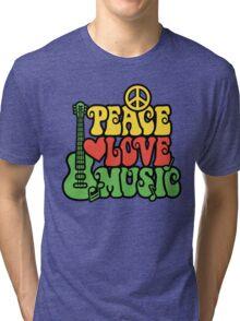 Reggae Peace Love Music Tri-blend T-Shirt