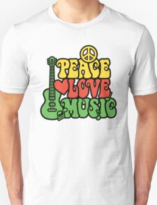 Reggae Peace Love Music Unisex T-Shirt