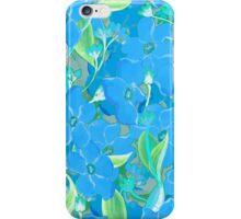 Blue flowers bouquet pattern iPhone Case/Skin