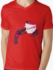 Gun Bang Mens V-Neck T-Shirt