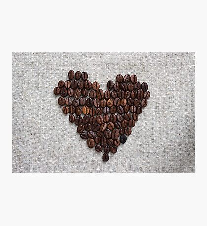 Heart from coffee beans Photographic Print