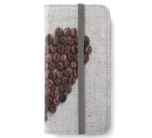 Heart from coffee beans iPhone Wallet/Case/Skin