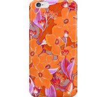 Orange flowers bouquet pattern iPhone Case/Skin