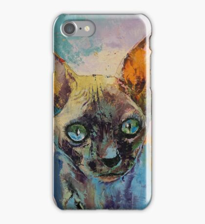 Sphynx Cat Portrait iPhone Case/Skin