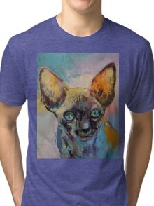 Sphynx Cat Portrait Tri-blend T-Shirt