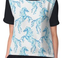 Air horse. Smoke texture pattern. Dream style Chiffon Top