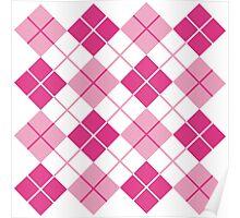 Pink Argyle Design Poster