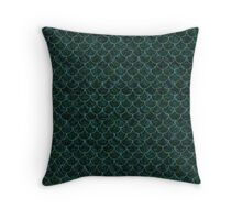 Murky Mermaid Scales Throw Pillow