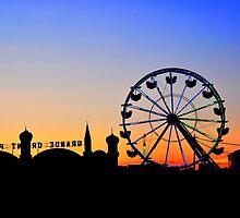 Fun Wheel Sunset by Poete100