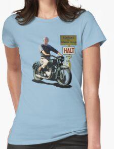 STEVE MCQUEEN GREAT ESCAPE HALT Womens Fitted T-Shirt