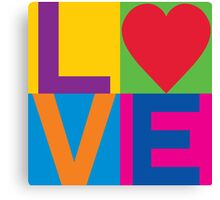 Checkered LOVE Canvas Print