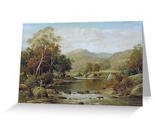 William Henry Mander - Tranquil Waters Greeting Card