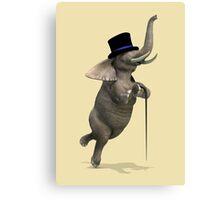 Tap Dancing Elephant Canvas Print