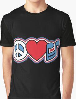 PEACE LOVE MUSIC Symbols Graphic T-Shirt