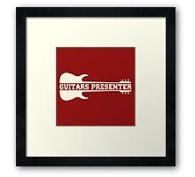 Guitars Presenter (ow) Framed Print