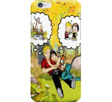 Calvin and His Girl iPhone Case/Skin