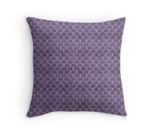 Purple Mermaid Scales Throw Pillow