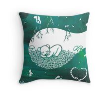 Little Sleeping Bear Throw Pillow
