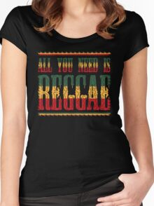 All You Need Is Reggae Women's Fitted Scoop T-Shirt