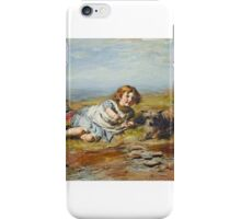 William McTaggart - Playmates, Gracie iPhone Case/Skin