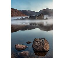 Misty Kilchurn Castle - April 2016 Photographic Print