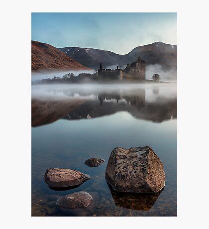 Misty Kilchurn Castle - April 2016 Photographic Print