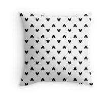 Arrows in White Throw Pillow