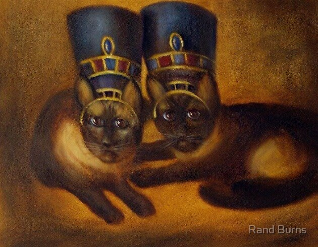 Ethylene and Opalene as Egyptians  by Randy Burns aka Wiles Henly