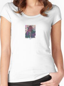 Paint Texture Photographer  Women's Fitted Scoop T-Shirt