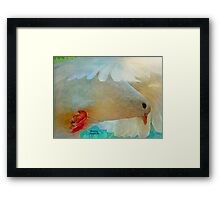 On the Wings of a Snow-White Dove  (All Proceeds Donated to Cancer Research) Framed Print