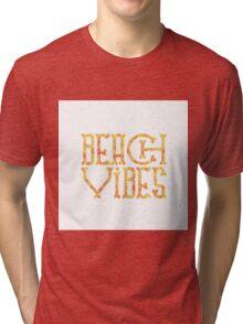 Beach Vibes in Sunset Flames Tri-blend T-Shirt