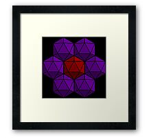 D20 Flower Framed Print