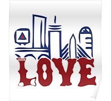 Love Boston Red Sox - Boston Skyline Poster