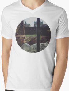 Sleepy Cat Mens V-Neck T-Shirt