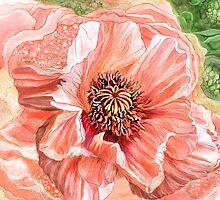 Big Peach Poppy 2 by Carol  Cavalaris
