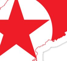 Flag Map of North Korea  Sticker