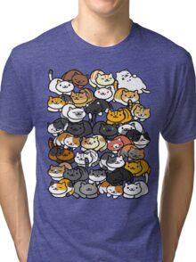 Neko Atsume Sleepy Kitties Tri-blend T-Shirt
