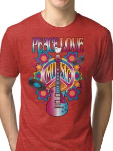 Peace, Love and Music Tri-blend T-Shirt