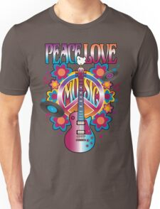 Peace, Love and Music Unisex T-Shirt