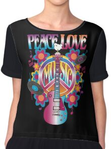 Peace, Love and Music Chiffon Top
