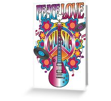 Peace, Love and Music Greeting Card