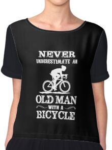 Old Man with a Bycycle Chiffon Top
