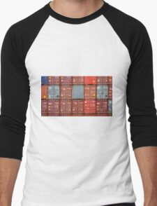 Stacked Containers Men's Baseball ¾ T-Shirt
